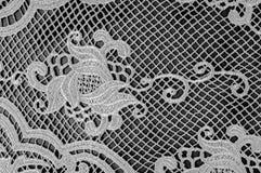Σύσταση, σχέδιο Το ύφασμα δαντελλών είναι γκρίζο, γραπτός άθλος Στοκ φωτογραφίες με δικαίωμα ελεύθερης χρήσης