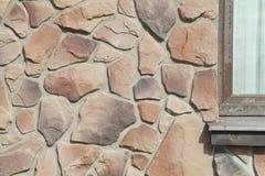 Σύσταση - τεχνητή διακοσμητική πέτρα façade Διακοσμητική γκρίζα σύσταση υποβάθρου τοίχων πετρών χρώματος τραχιά Στοκ Εικόνες