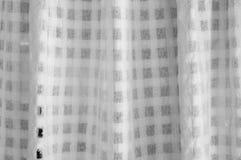 Σύσταση της άσπρης κουρτίνας Στοκ φωτογραφία με δικαίωμα ελεύθερης χρήσης