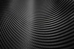 Σύσταση της αυτοκόλλητης ετικέττας ινών άνθρακα Μαύρο υλικό πολυτέλειας Στοκ Φωτογραφία