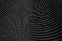 Σύσταση της αυτοκόλλητης ετικέττας ινών άνθρακα Μαύρο υλικό πολυτέλειας Στοκ φωτογραφίες με δικαίωμα ελεύθερης χρήσης
