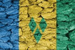 Σύσταση της σημαίας του Άγιου Βικεντίου και Γρεναδίνες στοκ εικόνα με δικαίωμα ελεύθερης χρήσης