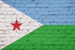 Σύσταση της σημαίας του Τζιμπουτί στοκ εικόνα με δικαίωμα ελεύθερης χρήσης