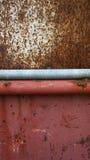 Σύσταση της σκουριάς επιφάνειας χάλυβα και του κόκκινου χάλυβα κατωτέρω Στοκ Εικόνες