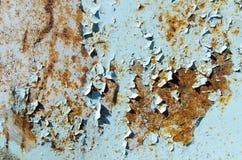 Σύσταση της σκουριάς με το αποφλοιωμένο μπλε Στοκ φωτογραφία με δικαίωμα ελεύθερης χρήσης