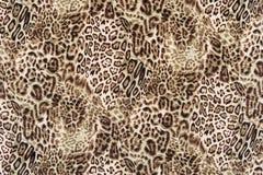 Σύσταση της στενής επάνω ριγωτής λεοπάρδαλης υφάσματος τυπωμένων υλών Στοκ εικόνα με δικαίωμα ελεύθερης χρήσης