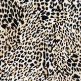 Σύσταση της στενής επάνω ριγωτής λεοπάρδαλης υφάσματος Στοκ Φωτογραφίες