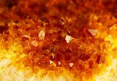Σύσταση της φύσης - citrin πολύτιμων λίθων στοκ φωτογραφία