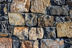 Σύσταση τοίχων γρανίτη, άνευ ραφής σύσταση, τεκτονική ημέρα, πολύχρωμη φυσική πέτρα γρανίτη, κομμάτια της πέτρας, θραύσματα, Στοκ εικόνα με δικαίωμα ελεύθερης χρήσης