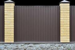 Σύσταση τοίχων Metall με το ίδρυμα πετρών Στοκ Εικόνες