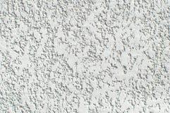 Σύσταση του άσπρου τοίχου με το σχέδιο ασβεστοκονιάματος Κατασκευασμένο σκηνικό, επισκευή σχεδίου, bas-ανακούφιση Στοκ Εικόνες