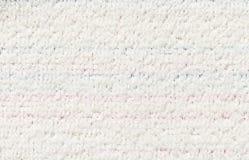 Σύσταση του άσπρου υφάσματος microfiber Στοκ Εικόνα