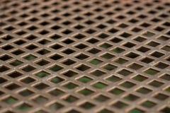 Σύσταση του ανοξείδωτου, διατρυπημένο μέταλλο φύλλων Στοκ Φωτογραφίες