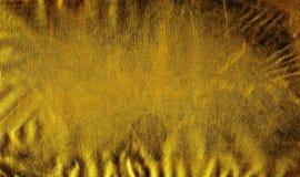 Σύσταση του διακοσμητικού δέρματος Σκοτεινή χρυσή επιφάνεια με τα ίχνη γήρανσης, χρήση, ζουλίγματα, γρατσουνιές Αφηρημένο υπόβαθρ ελεύθερη απεικόνιση δικαιώματος