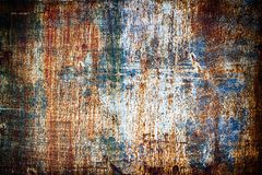 Σύσταση του μετάλλου σκουριάς, φύλλο χάλυβα που ντύνεται με τη διάβρωση Παλαιός ir στοκ εικόνα