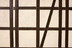 Σύσταση του μισό-εφοδιασμένου με ξύλα κτηρίου στοκ φωτογραφία
