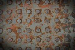 Σύσταση του παλαιού πιάτου χάλυβα Στοκ Εικόνες