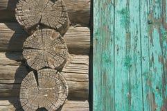 Σύσταση του παλαιού ξύλινου τοίχου Στοκ Φωτογραφία