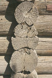 Σύσταση του παλαιού ξύλινου τοίχου Στοκ φωτογραφία με δικαίωμα ελεύθερης χρήσης