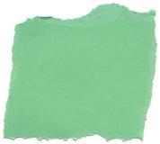 Πράσινο έγγραφο ινών Aqua - σχισμένες άκρες Στοκ φωτογραφίες με δικαίωμα ελεύθερης χρήσης