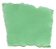 Πράσινο έγγραφο ινών Aqua - σχισμένες άκρες Στοκ εικόνες με δικαίωμα ελεύθερης χρήσης