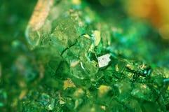 Σύσταση του πράσινου υποβάθρου, αχάτης κρυστάλλων Μακροεντολή Στοκ Φωτογραφίες
