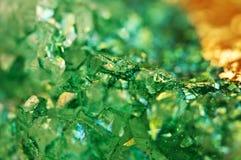 Σύσταση του πράσινου υποβάθρου, αχάτης κρυστάλλων Μακροεντολή Στοκ Εικόνες