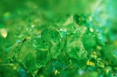 Σύσταση του πράσινου υποβάθρου, αχάτης κρυστάλλων Μακροεντολή Στοκ Εικόνα