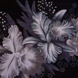 Σύσταση του ριγωτού λουλουδιού υφάσματος τυπωμένων υλών Στοκ Εικόνες