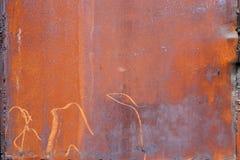 Σύσταση του σκουριασμένου φύλλου σιδήρου Στοκ Φωτογραφία