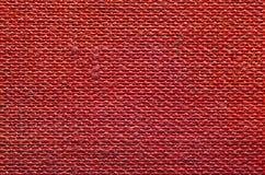 Σύσταση του τραχιού κόκκινου υφάσματος Στοκ φωτογραφία με δικαίωμα ελεύθερης χρήσης