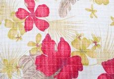 Σύσταση του υφάσματος στο σχέδιο λουλουδιών Στοκ Εικόνα