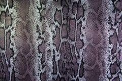 Σύσταση του φιδιού λωρίδων υφάσματος τυπωμένων υλών Στοκ Εικόνες