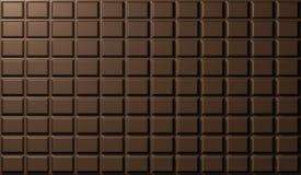 Σύσταση του φραγμού σοκολάτας. τρισδιάστατος δώστε Στοκ φωτογραφία με δικαίωμα ελεύθερης χρήσης