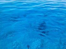 Σύσταση του όμορφου μπλε θάλασσα-διαφανούς διαφανούς υγρός-κιγκλιδώματος, καμμένος θαλασσινό νερό, θάλασσα, ωκεανός, υπόβαθρο της Στοκ Φωτογραφίες