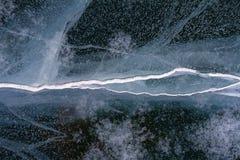 Σύσταση του όμορφου πάγου παραμυθιού της λίμνης Baikal Στοκ φωτογραφία με δικαίωμα ελεύθερης χρήσης