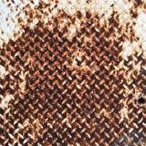 Σύσταση του fluted σκουριασμένου μεταλλικού πιάτου Στοκ Φωτογραφίες