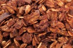 Σύσταση του granola με το chocolade Στοκ Φωτογραφίες