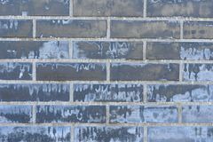 Σύσταση τούβλου με τις γρατσουνιές και τις ρωγμές Στοκ φωτογραφία με δικαίωμα ελεύθερης χρήσης
