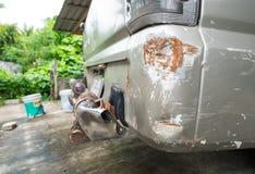 Σύσταση τροχαίου στο φορτηγό ή το αυτοκίνητο Στοκ εικόνες με δικαίωμα ελεύθερης χρήσης