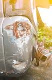 Σύσταση τροχαίου στο φορτηγό ή το αυτοκίνητο Στοκ Εικόνες
