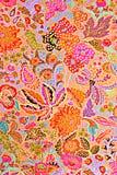 Σύσταση των εξωτικών λουλουδιών λωρίδων υφάσματος τυπωμένων υλών Στοκ φωτογραφίες με δικαίωμα ελεύθερης χρήσης