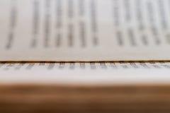 Σύσταση των παλαιών σελίδων βιβλίων Στοκ Φωτογραφία