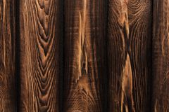 Σύσταση των πινάκων του σκοτεινού παλαιού καφετιού ξύλου στοκ φωτογραφία με δικαίωμα ελεύθερης χρήσης