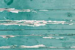 Σύσταση των orizontal ξύλινων επιτροπών με την πράσινη αποφλοίωση χρωμάτων Στοκ φωτογραφία με δικαίωμα ελεύθερης χρήσης