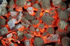 Σύσταση υποβάθρου ανθρακόπλινθων ξυλάνθρακα πυράκτωσης Στοκ φωτογραφία με δικαίωμα ελεύθερης χρήσης