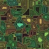 Σύσταση υποβάθρου τεχνολογίας Cyber (πράσινος, κίτρινος και κόκκινος) Στοκ Φωτογραφίες