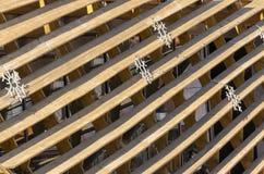 Σύσταση υποβάθρου των παλαιών χρωματισμένων ξύλινων τυφλών Στοκ Φωτογραφία
