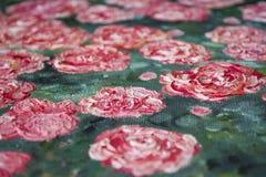 σύσταση Υπόβαθρο Ένας καμβάς με τα κτυπήματα των βουτυρωμένων χρωμάτων Κόκκινα, άσπρα και πράσινα χρώματα τέχνη ντεκόρ στοκ εικόνες