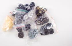 Σύσταση, υπόβαθρο, συλλογή κουμπιών ραψίματος Διάφορο ράψιμο β Στοκ εικόνα με δικαίωμα ελεύθερης χρήσης